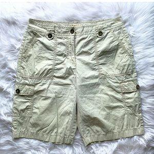 MICHAEL KORS Khaki Cargo Bermuda Shorts
